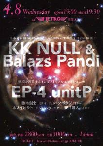 2015-04-08 KK NULL & Balazs Pandi / EP-4 unitP flyer